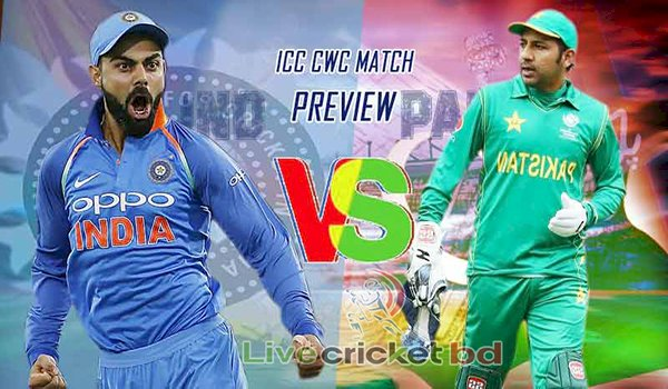Ind vs Pak, ICC Cricket World Cup 2019 Match Live Streaming